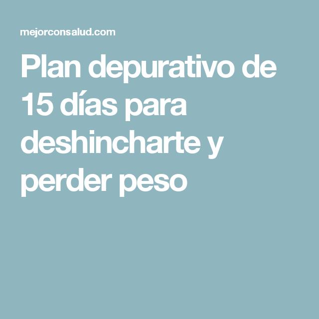 Plan depurativo de 15 días para deshincharte y perder peso
