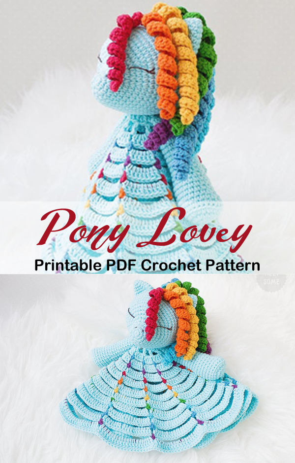 Make a Cute Pony Baby Lovey