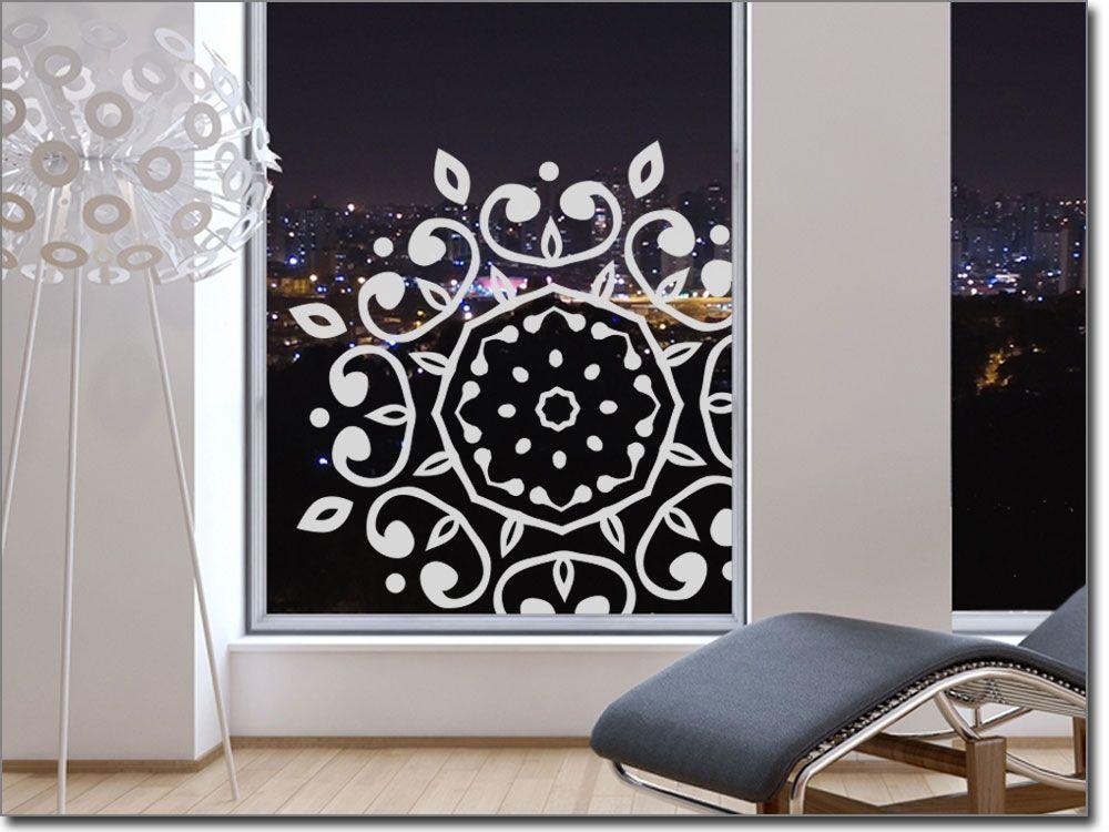 Fensteraufkleber mit spirituellem Mandala Glastattoos Ornamente