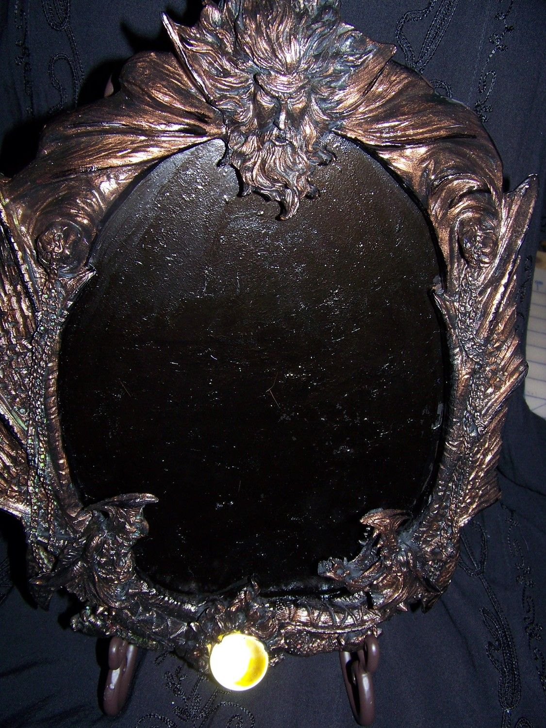 Magickal Ritual Sacred Tools:  Dancing With Dragons Scrying Mirror.