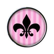 Pink Circular Fleur de Lis Sneaker Charm