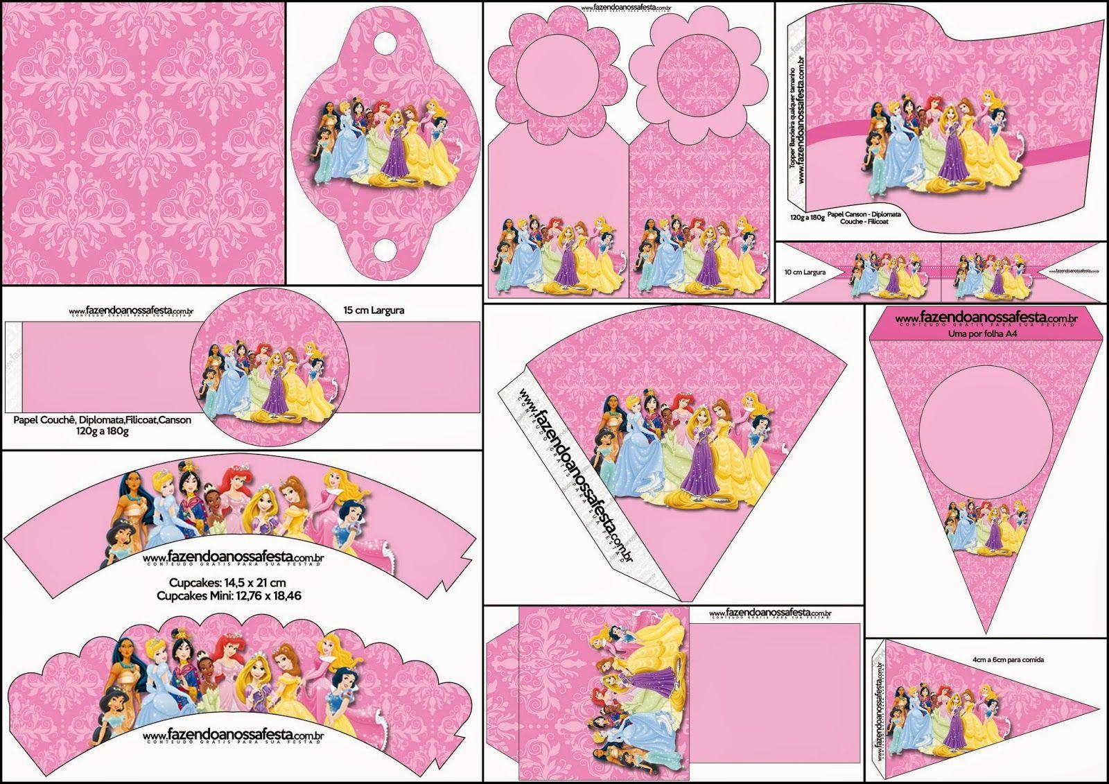 Princesas Disney: Imprimibles Gratis para Fiestas.   delfi cumple ...