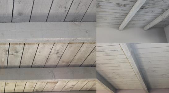 Alleen de balken white wash interieur ideeën