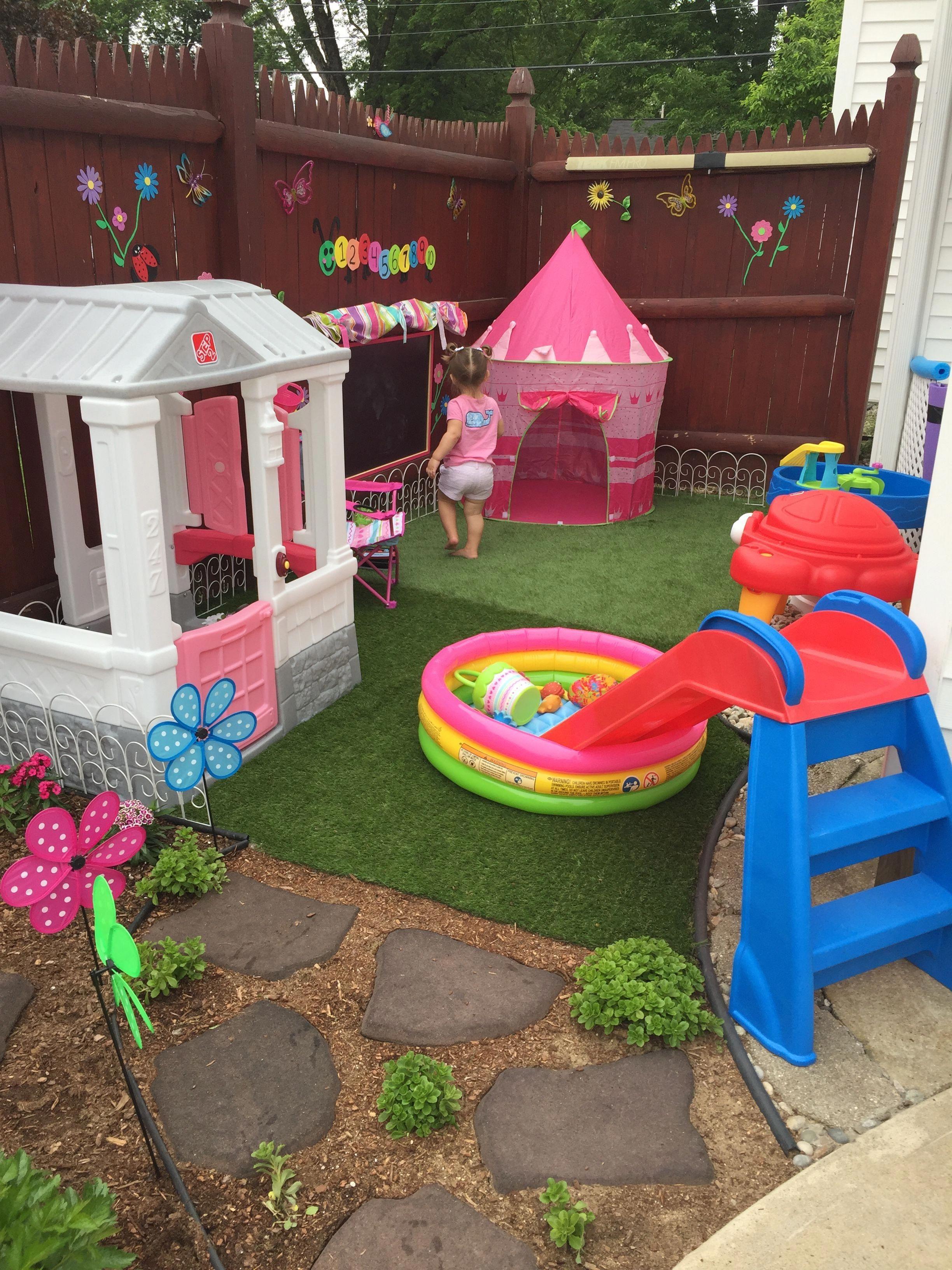 Small Backyard Play Area Backyard Kids Play Area Outdoor Kids
