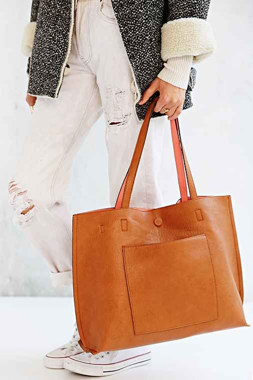 Vegan Leather Tote Bag Perfect For Carrying All Those Daily Work Extras