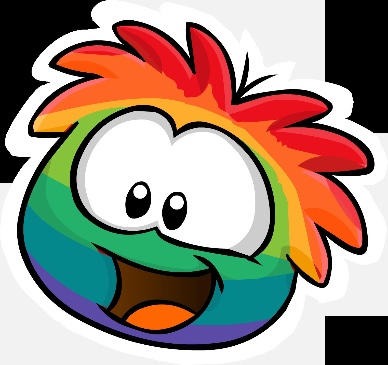 Rainbow Puffle Pin | Pinterest | Inspiración