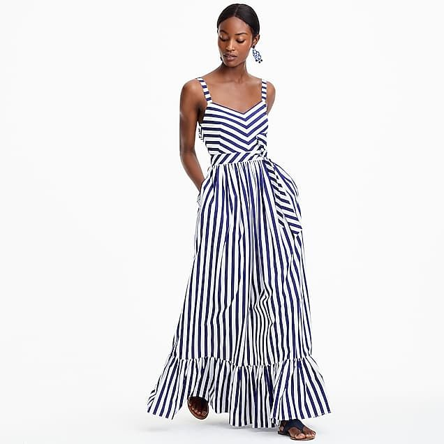 2c1328991c9 petite striped ruffle maxi dress   women newness alert  6 things you need  for summer