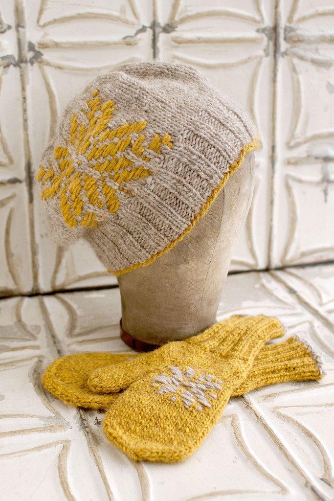 Mount Airy Hat & Mittens | Chapeaux | Pinterest | Gorros de punto ...