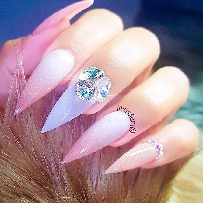 Best Stiletto Nails Designs Ideas And Tips For You Unas Manicura Manicure Y Pedicure