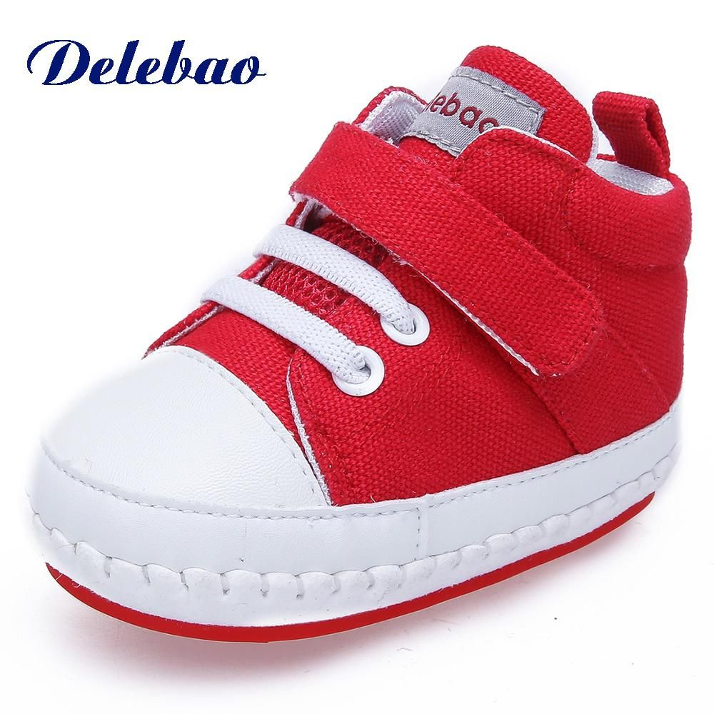 e7f113357d6ac Delebao Spring/Autumn Hook & Loop Lace-up Baby Shoes Unique Toddler ...
