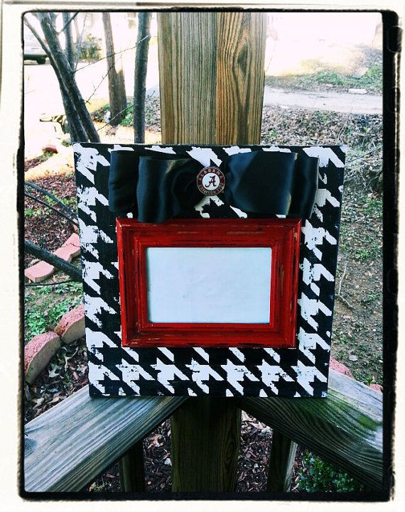 Distressed Houndstooth Picture Frame | Gift Ideas | Pinterest ...