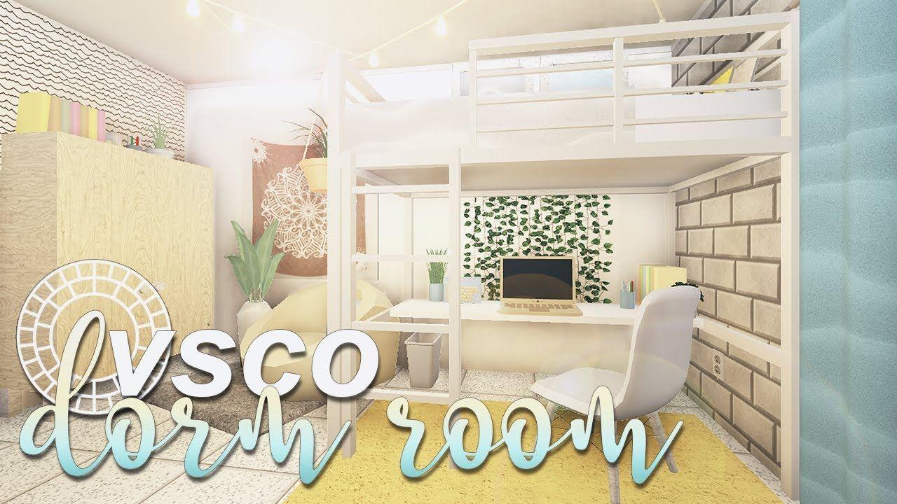 Roblox Bloxburg Vsco Girl Dorm Room Sksksk Youtube In 2020