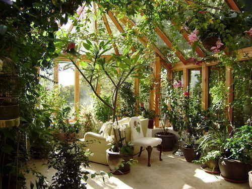 Indoor Garten Solarium Gewächshaus # Wintergarten Gewächshaus #HomeHerbGarden #con #gardendesignideas