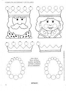 queen trace line worksheet | Crafts and Worksheets for Preschool ...