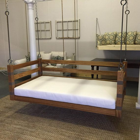Porch Swing: The Teak Swing Bed Multi Color By LowcountrySwingBeds  (bedswing)