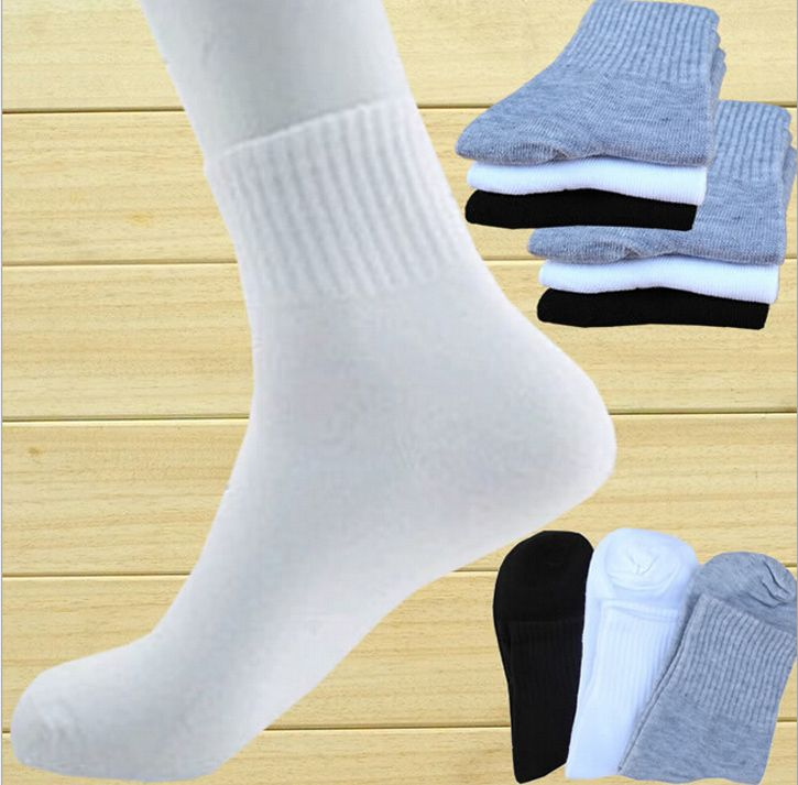 5 10 pairs Lot Mens Business Casual Thin Solid Crew Quarter Dress Cotton Socks