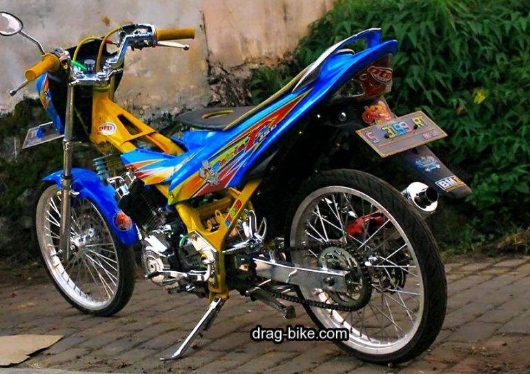 50 Foto Gambar Modifikasi Satria Fu Thailook Terbaik Terkeren Air Brush Kontes Drag Bike Com Gambar Sepeda Motor Air