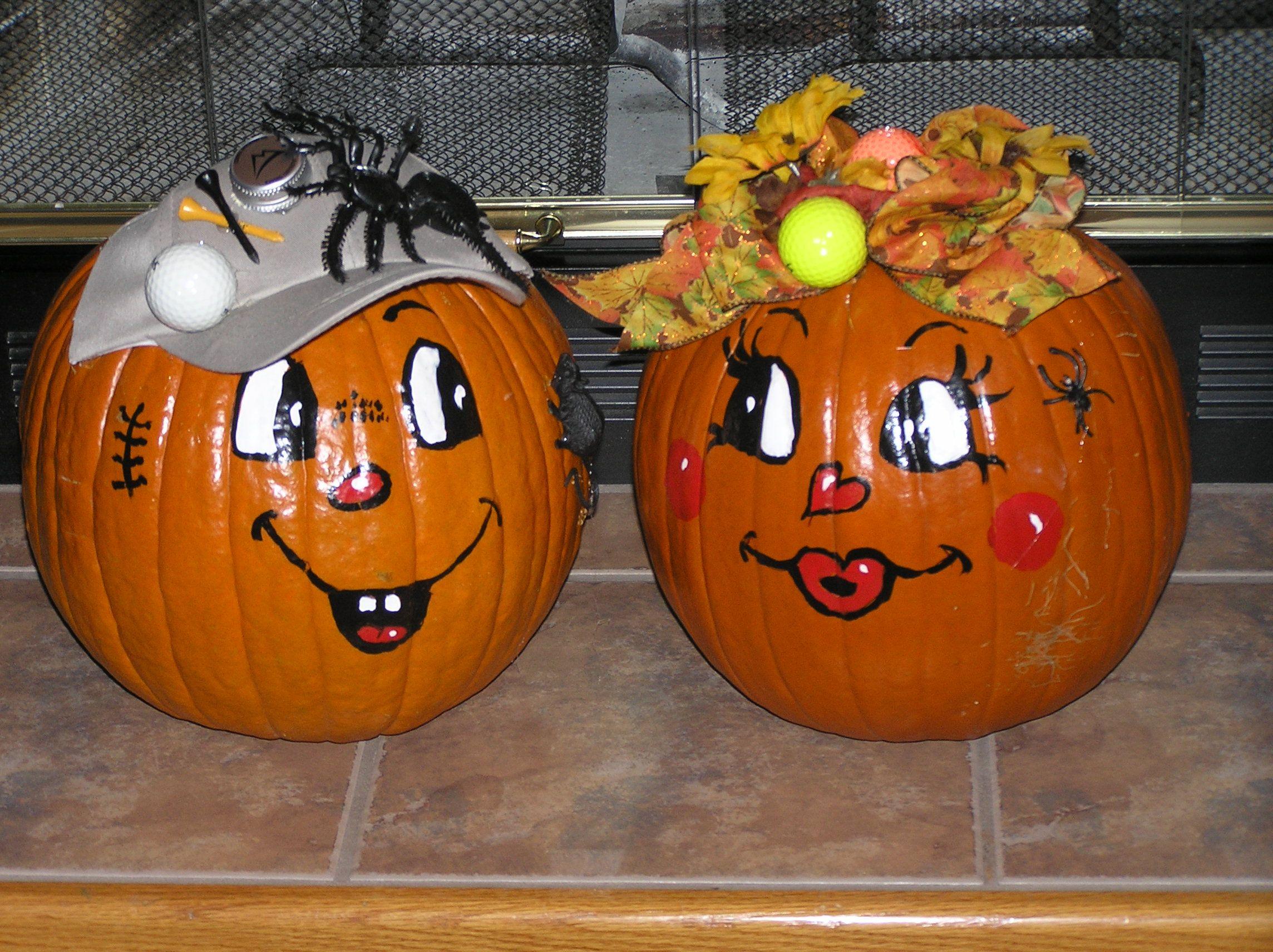 Super cute painted Halloween pumpkin faces! | fall/halloween ...