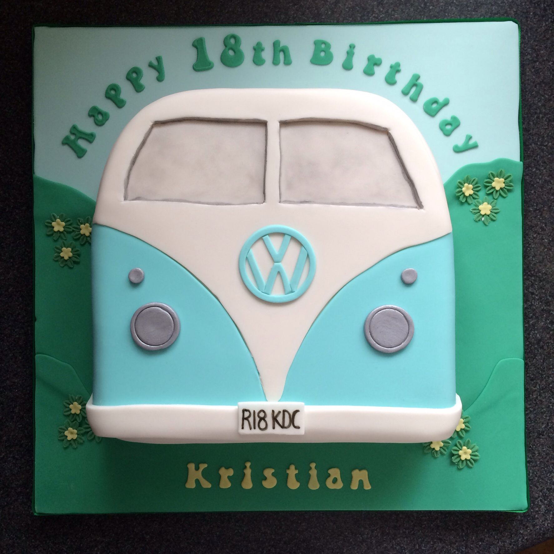 18th Birthday Party Ideas Limo Hire Party Bus: VW Campervan Cake 18th Birthday