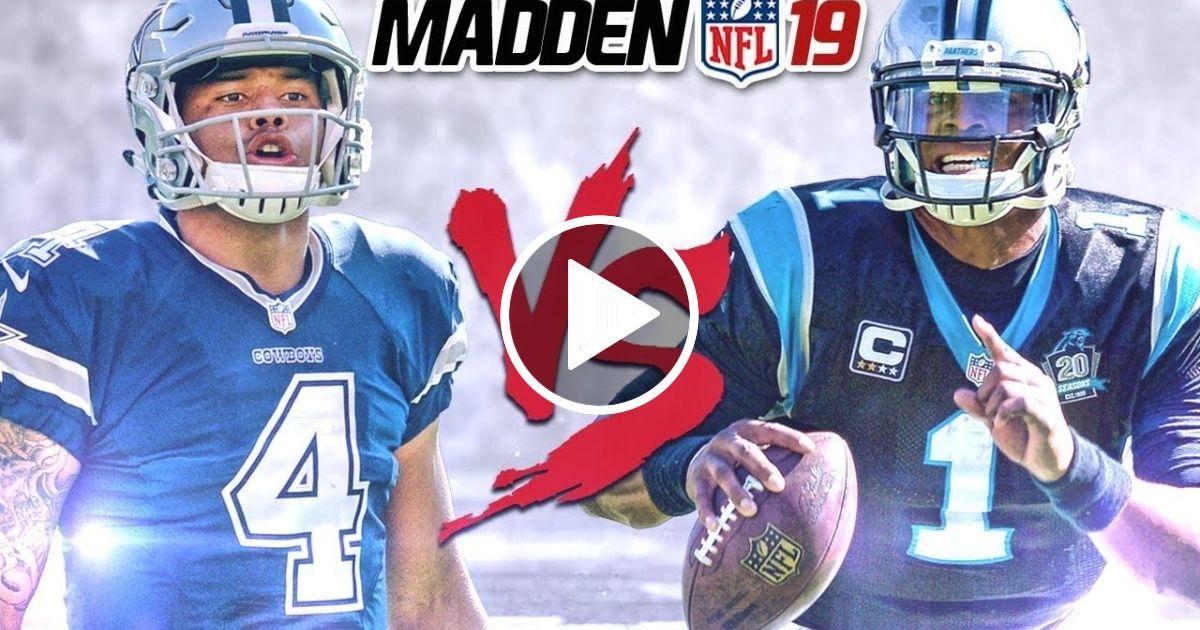 NEW EXCLUSIVE Madden 19 Gameplay!!! Dak vs Cam! AllMadden