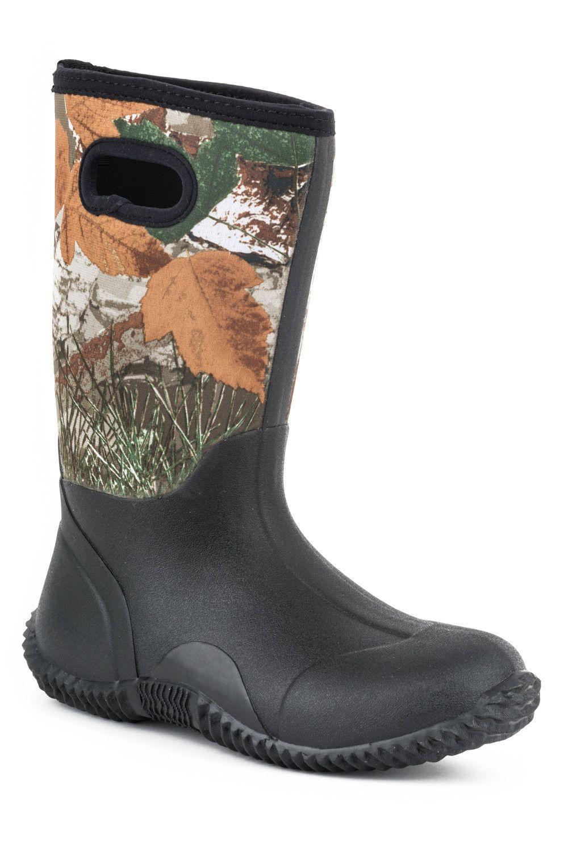 Roper Boots Youth Multi Neoprene Waterproof Boys Barnyard ...