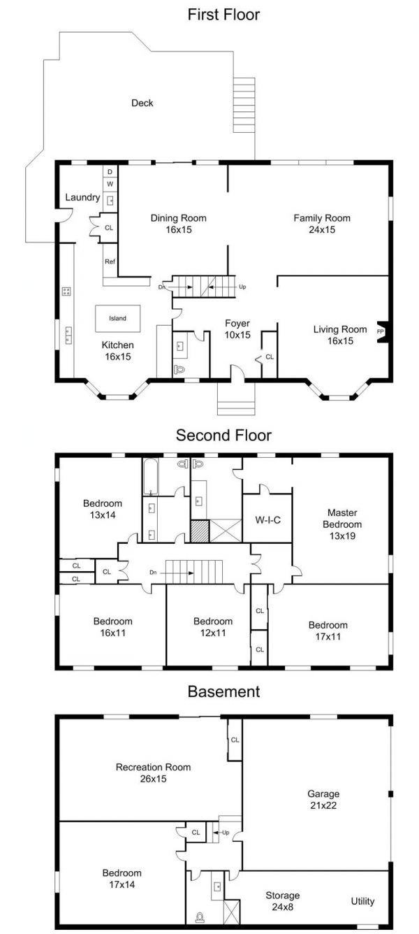 Spacious Brick Front Center Hall Colonial Center Hall Colonial Floor Plans Colonial House Plans