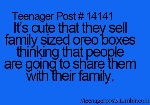Family sized Oreos by TeenishTexts on DeviantArt