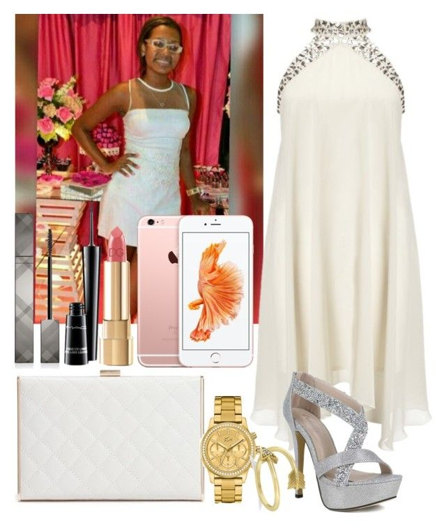 """""""My Friend"""" by veronica-henrique ❤ liked on Polyvore featuring Lipsy, GUESS by Marciano, Lacoste, Allurez, Burberry, MAC Cosmetics and Dolce&Gabbana"""