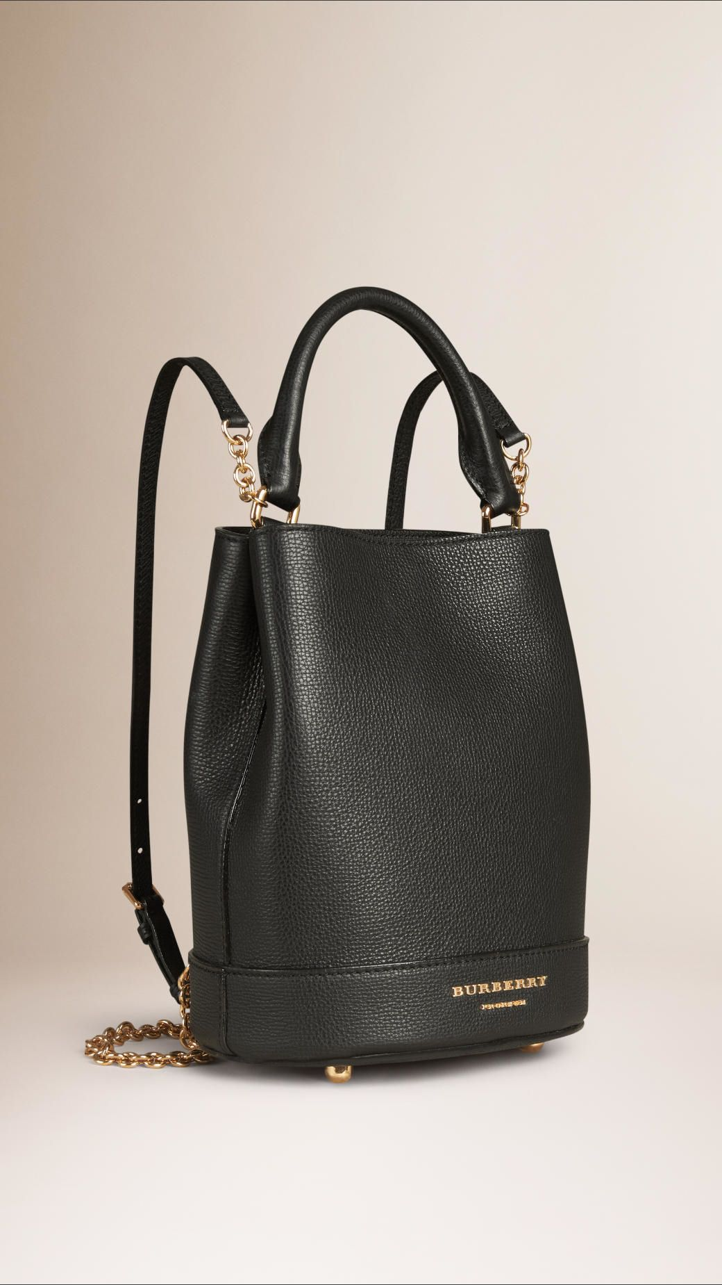 eecefbba77b Burberry | Black The Bucket Backpack In Grainy Leather | Lyst | Bags ...