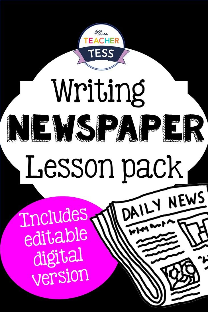Newspaper Writing Lesson Pack  Article Writing Writing Lessons