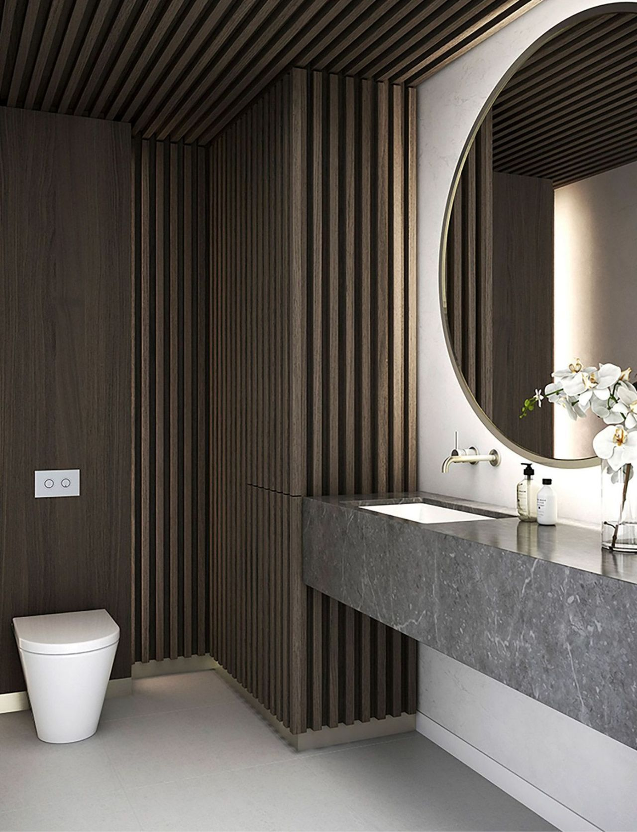 100 Great Minimalist Modern Bathroom Ideas 63 With Images Luxury Powder Room Modern Powder Rooms Powder Room Design