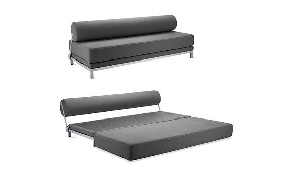 "DWR Twilight Sleeper Sofa $1900  (H 29"" W 79"" D 34.75"")   Seat H 17""   Single Bed H 17"" W 79"" D 34.75""   Queen Bed H 8.5"" W 79"" D 69.5"""