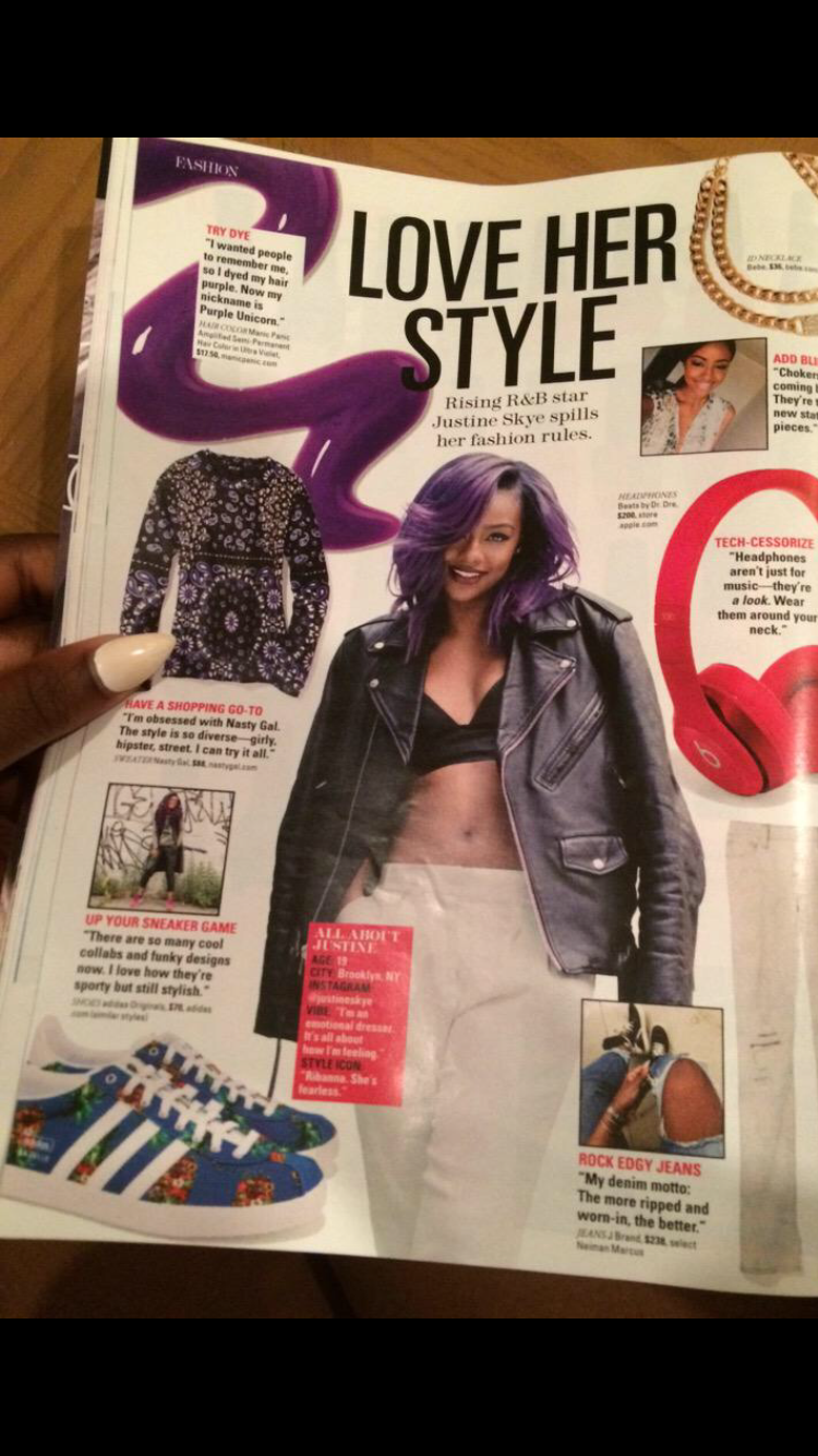 Justine Skye has a #girlcrush on Nasty Gal! Read all about it in the latest issue of @Seventeen.