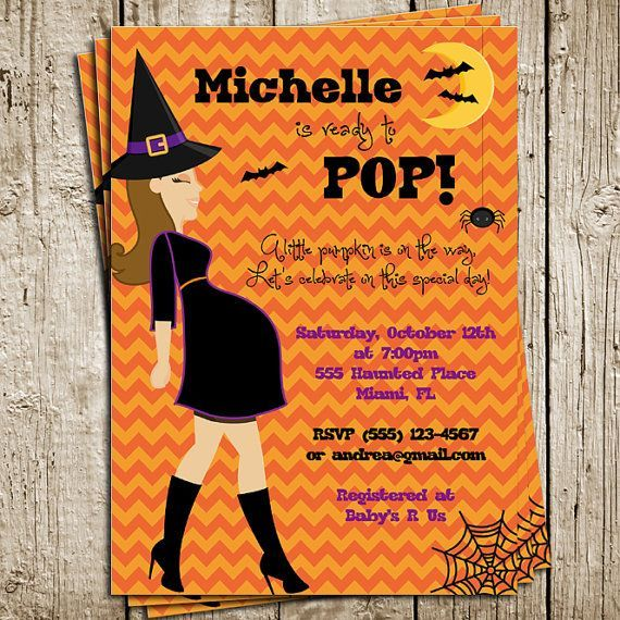 Free Printable Halloween Baby Shower Invitations 06