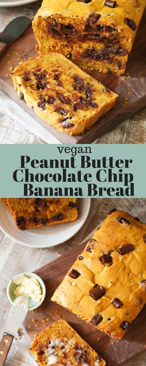 #Vegan Peanut Butter Chocolate Chip Banana Bread!