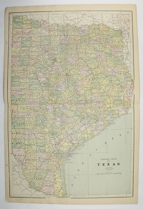 East Texas Map Indian Territory Vintage Map Oklahoma New - Map of east texas