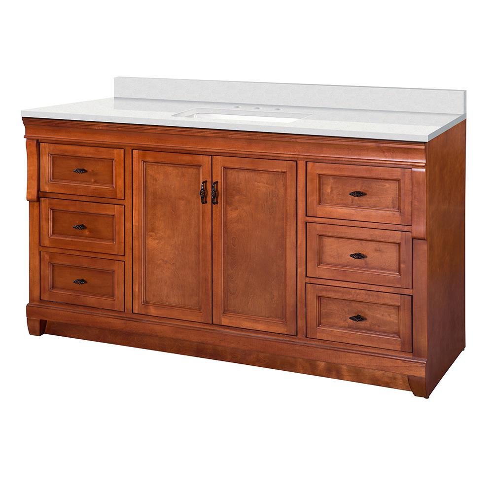 Foremost Naples 61 In W X 22 In D Vanity Cabinet In Warm