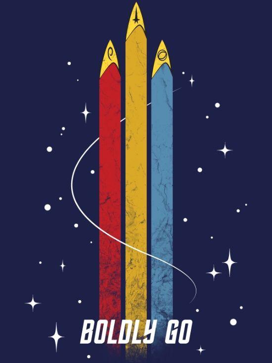 Star Trek Boldly Go By Kona Star Trek Posters Star Trek Painting Star Trek Wallpaper