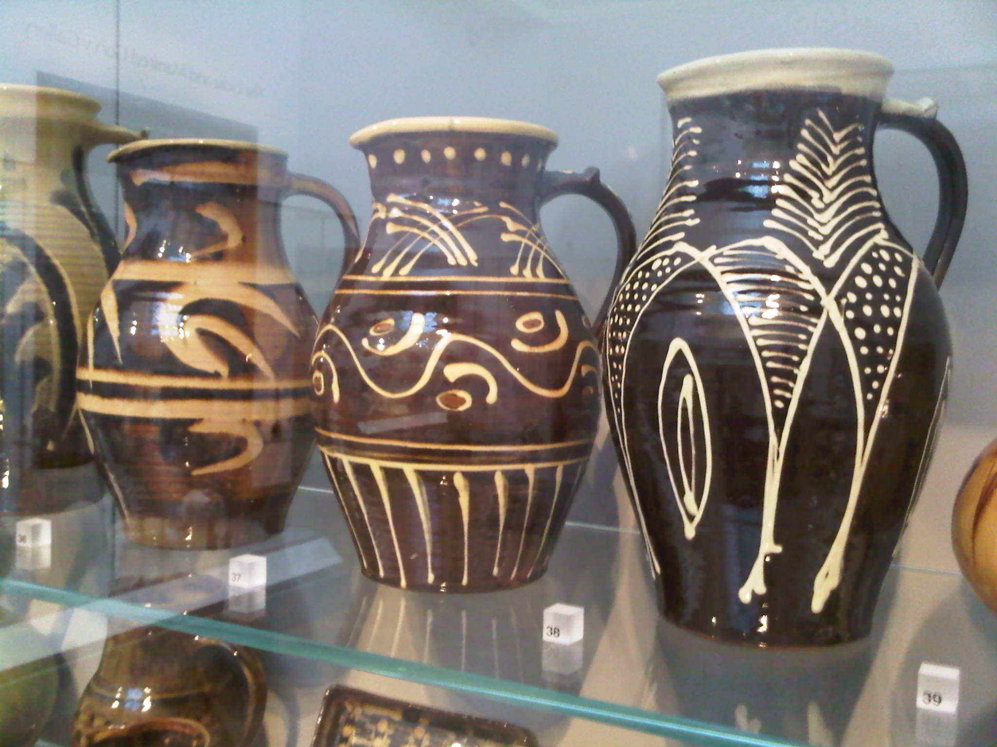 Slipware jugs, V & A
