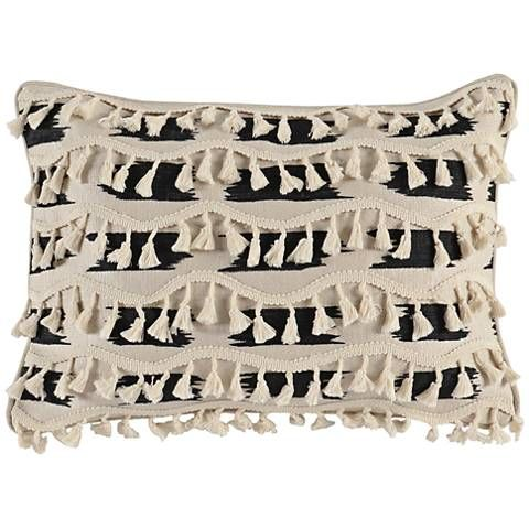 Roset Wool And Onyx 20 X 14 Decorative Pillow 21x30 Lamps Plus Leather Throw Pillows Pillows Decorative Pillows