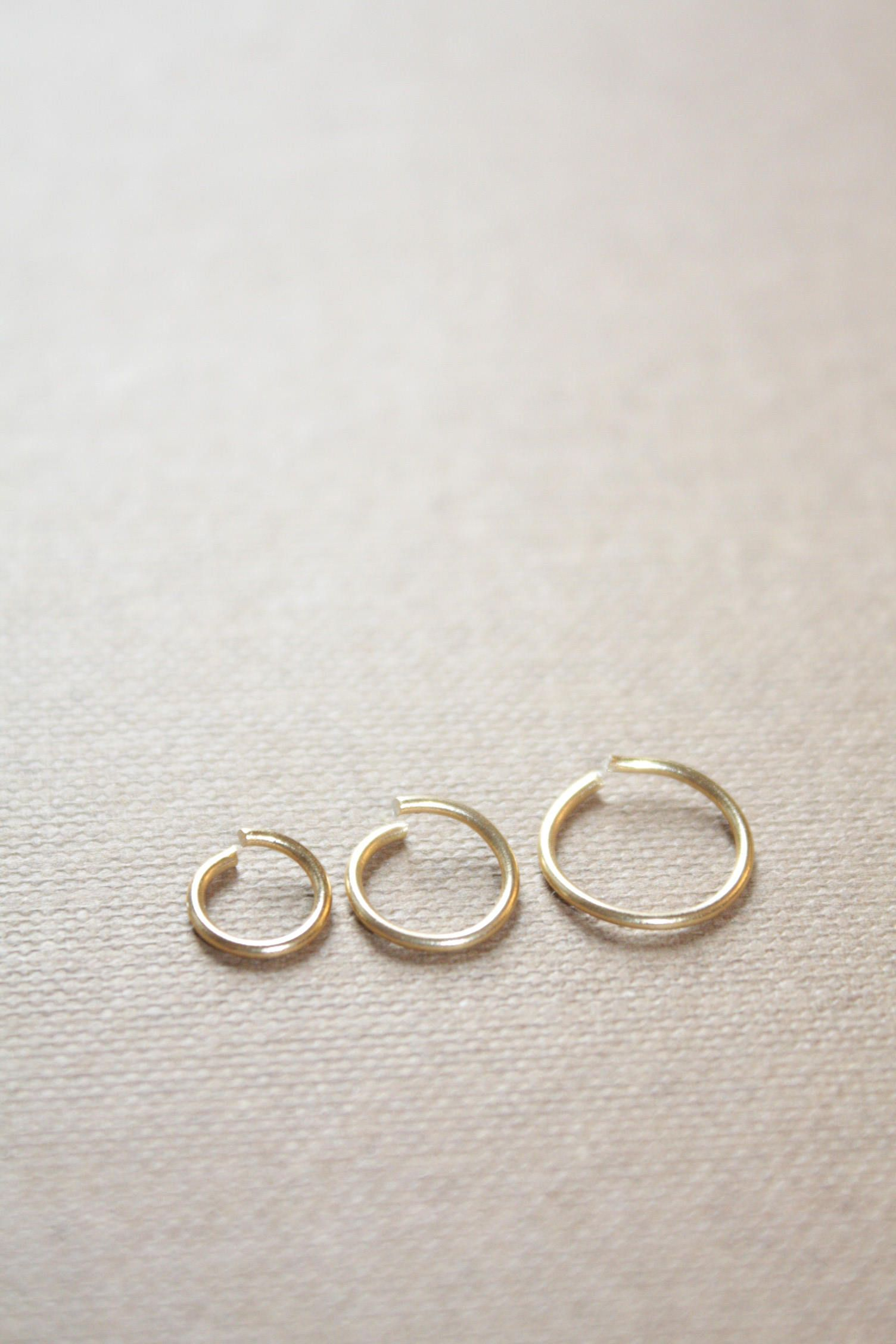 Small Gold Hoop Earring 22k Gold Nose Ring Hoop Gold Cartilage