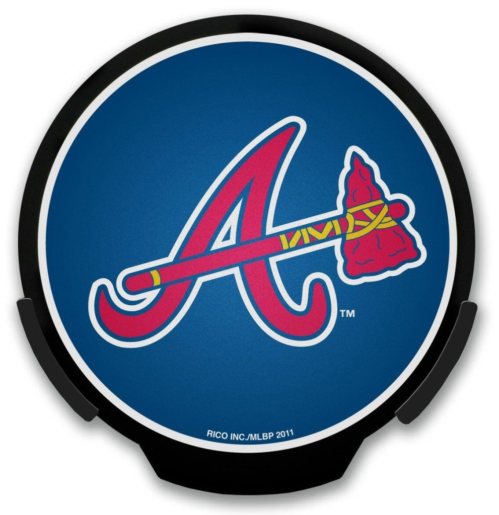 Atlanta Braves Light Up Powerdecal Atlanta Braves Logo Atlanta Braves Atlanta Braves Wallpaper