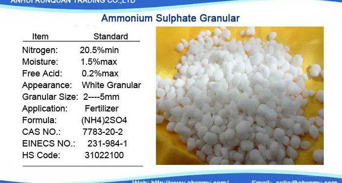 fertilizer grade Ammonium sulphate granular/crystal fertilizer grade   LinkedIn