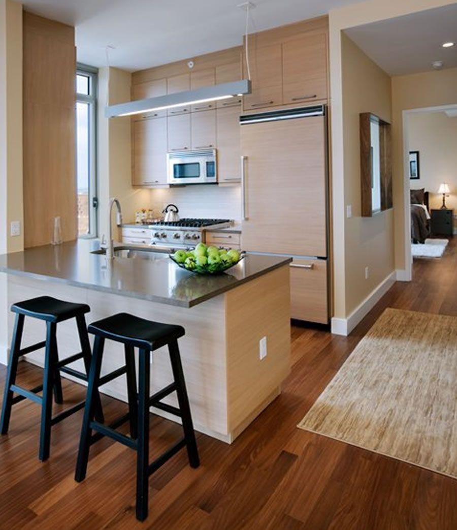 Interesting Modern Residential Kitchen Furniture Design Azure Uptown ...
