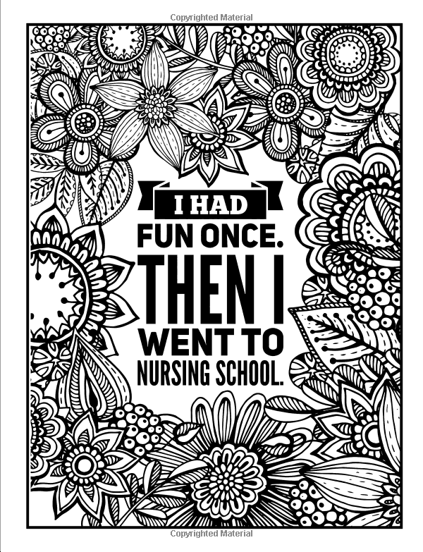 Amazon com nurse life a snarky adult coloring book humorous coloring books