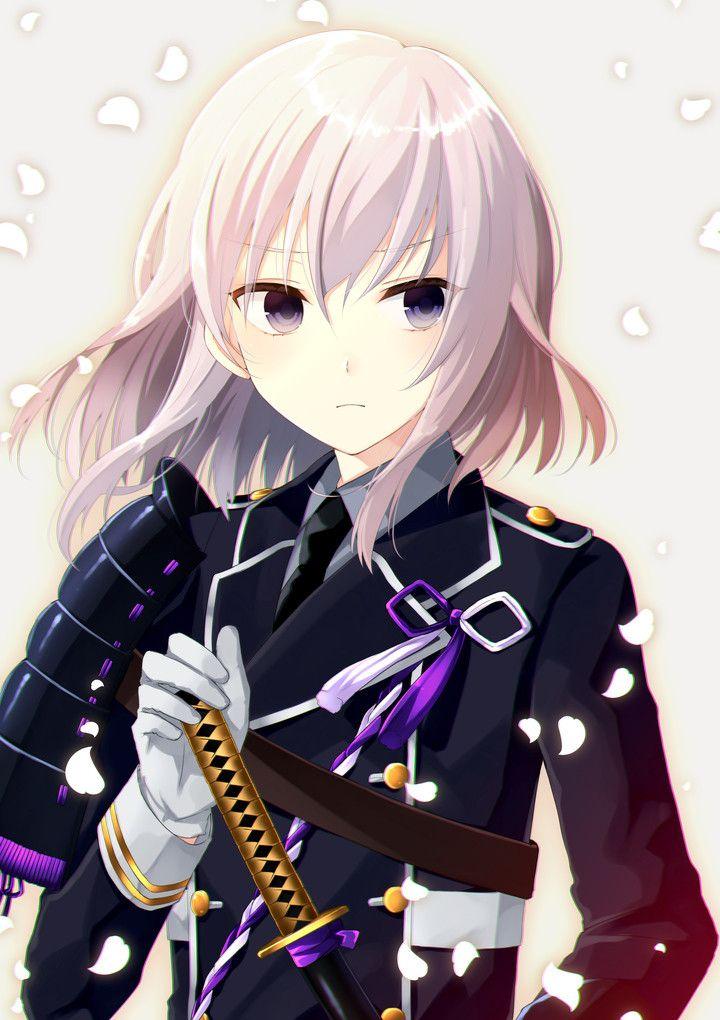 White and Purple [Touken Ranbu] Illustration