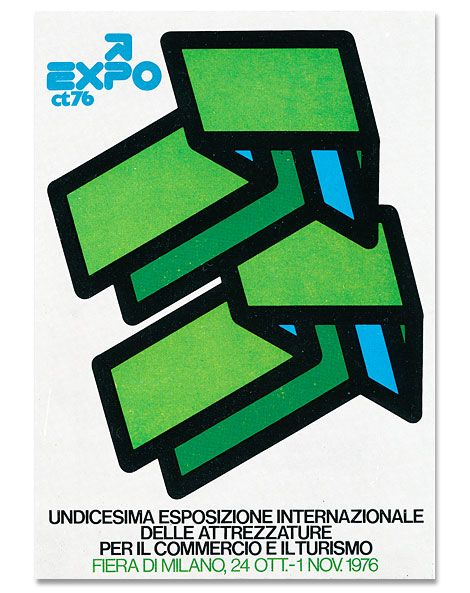 exhibition poster by Mimmo Castellano (1976)