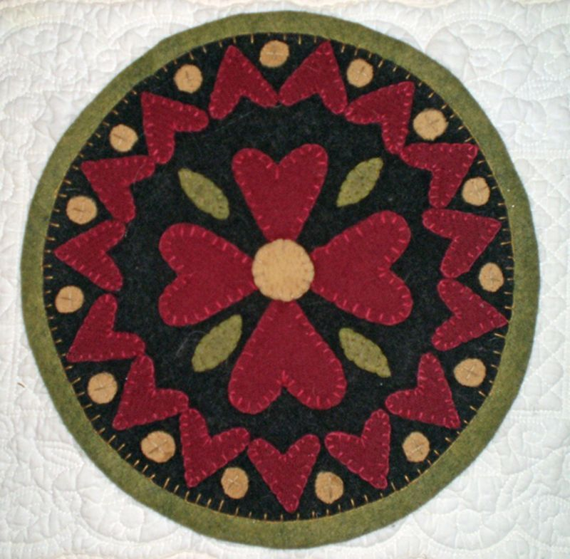 Free Printable Penny Rug Patterns 19 Valentine Hearts Mat Instant E Pattern