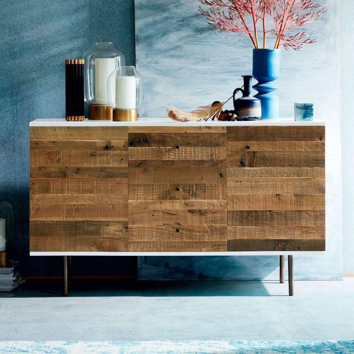 Reclaimed Wood Lacquer Buffet Marceline Pinterest Buffet and