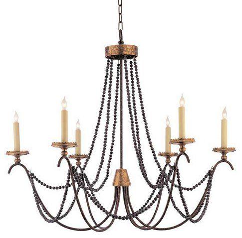 Marigot 6 light chandelier rust ceiling lights fans indoor and outdoor · chart houseone kings laneoutdoor